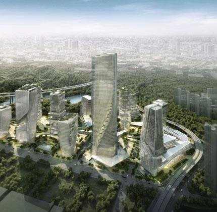 Galaxy-Yabao-Hi-Tech-Enterprises-Headquater-Park, il quartiere che purifica l'aria