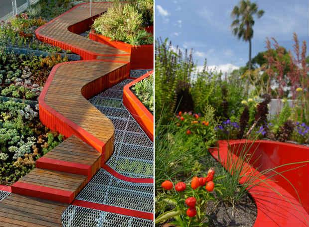 Aperti i pioneristici giardini pensili dell 39 universit di for Soluzioni giardini pensili