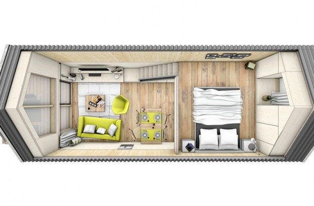 La mini casa prefabbricata in legno da spostare dove vuoi for Mini case interni