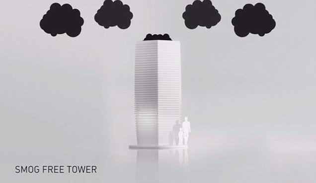 Smog-Free Tower purifica l'aria e trasforma il PM10 in gioielli