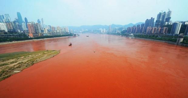 Il fiume Yangze presso Shangai