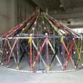 Architettura riciclata, dal Polimi la yurta di vecchi sci
