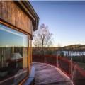 Balcone solare per la prima casa passiva rotonda della Svezia