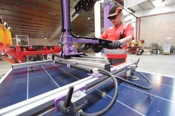 impianto di riciclo fotovoltaico