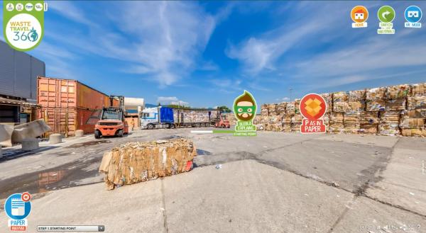 Waste Travel 360°,il primo viaggio virtualenell'economia circolare
