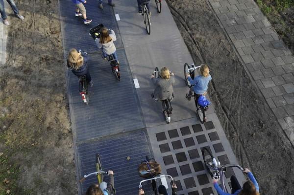 pista ciclabile solare