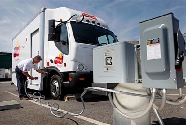 staztione rifornimento camion elettrico