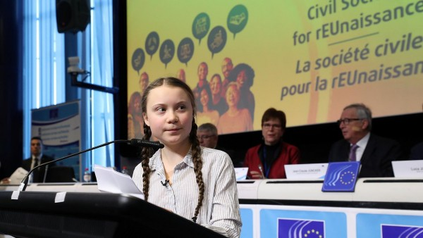 Thunberg discorso Commissione europea