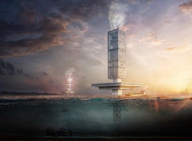 grattacielo galleggiante