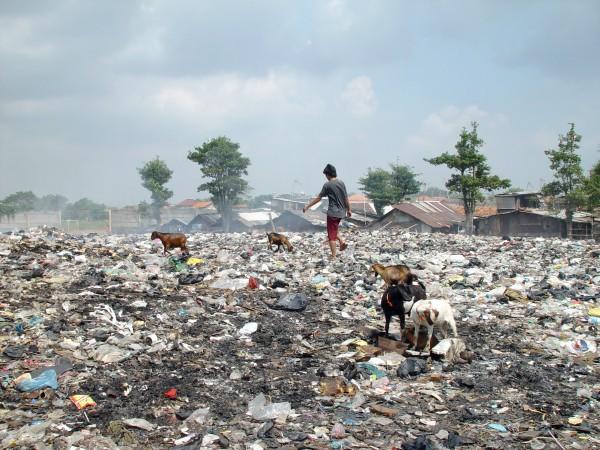 commercio di rifiuti Giacarta Indonesia