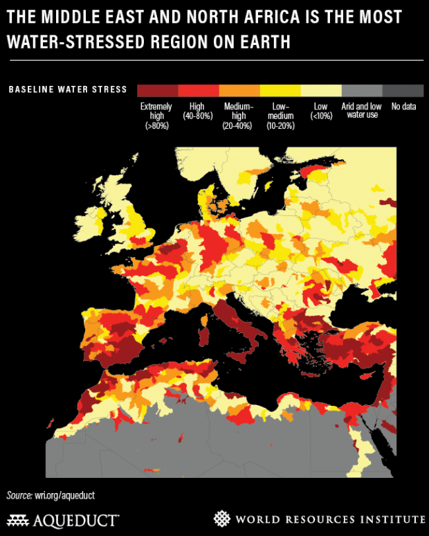 stress idrico unione europea