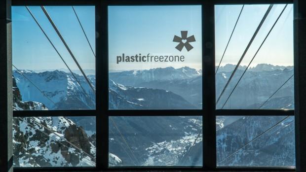 La skiarea trentina di Pejo3000 è la prima a dire basta plastica