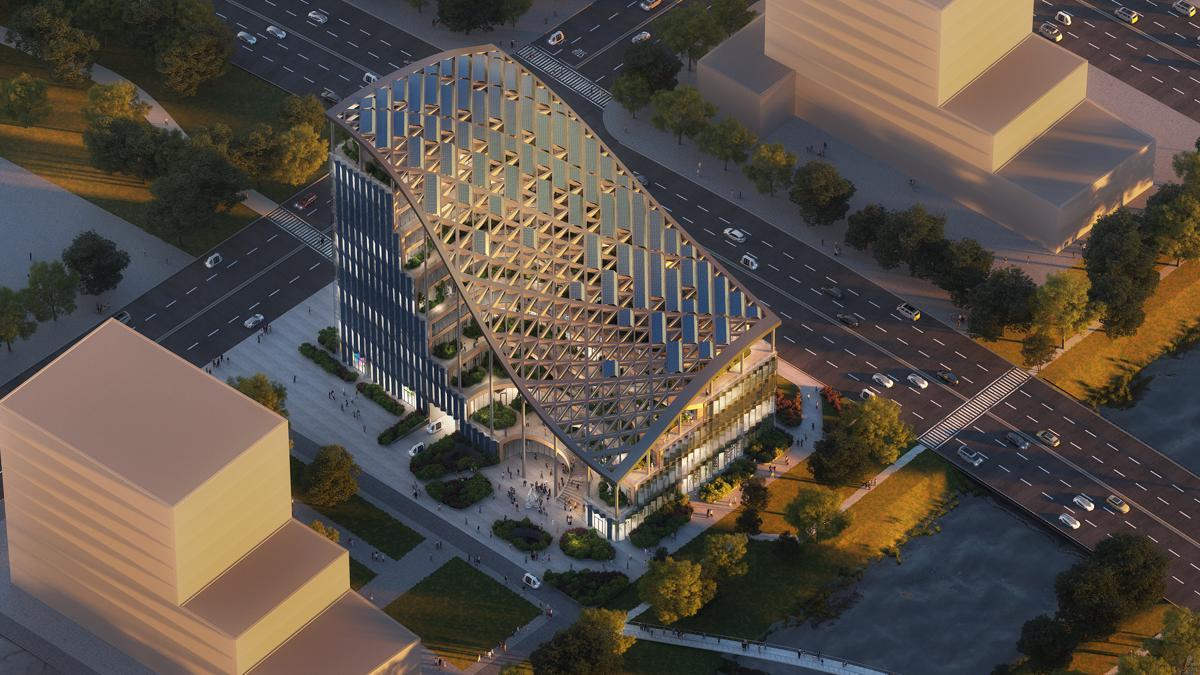 Tetto solare a cascata per il nuovo edificio di MVRDV
