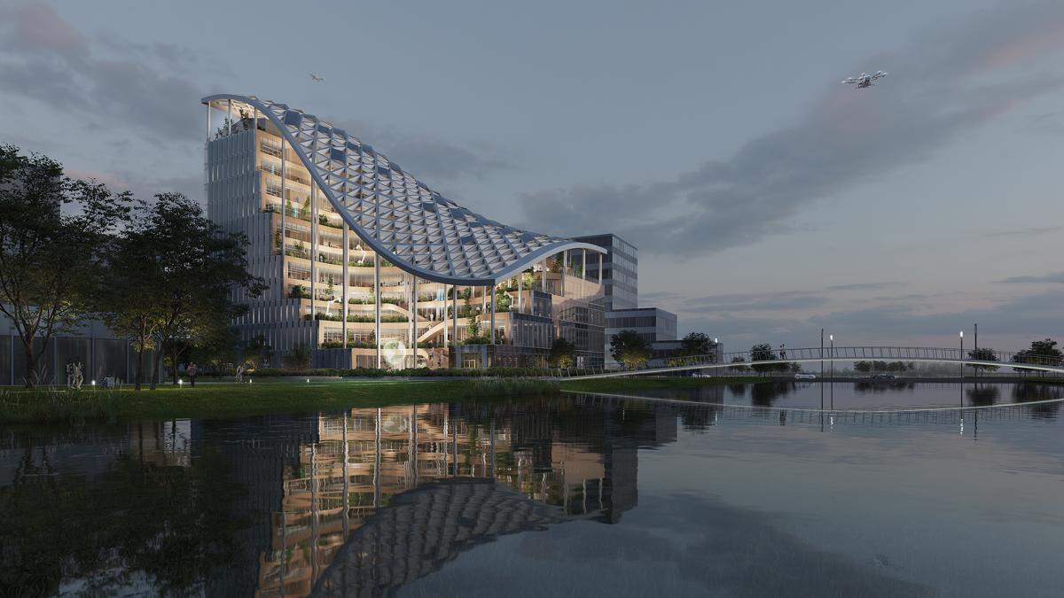 Tetto solare a cascata per il nuovo edificio firmato MVRDV - credits: MVRDV