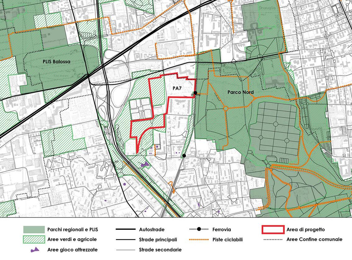 UNStudio il masterplan di rigenerazione urbana per Bruzzano - Area di progetto