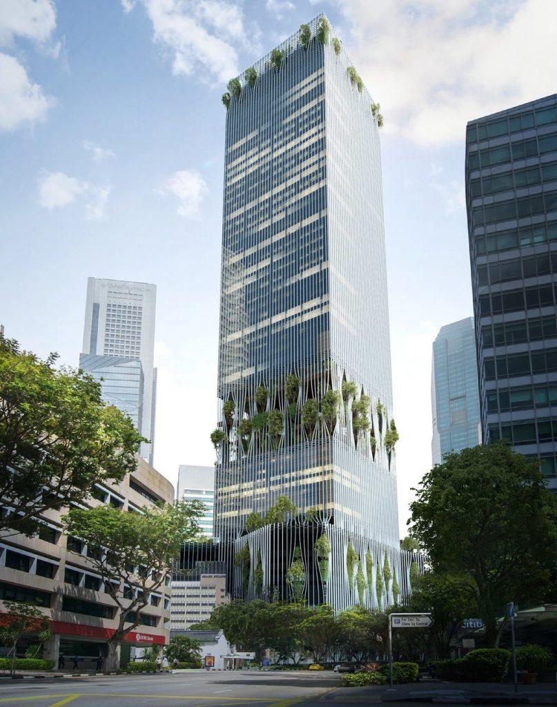 CapitaSPring, il grattacielo verde firmato BIG e CRA