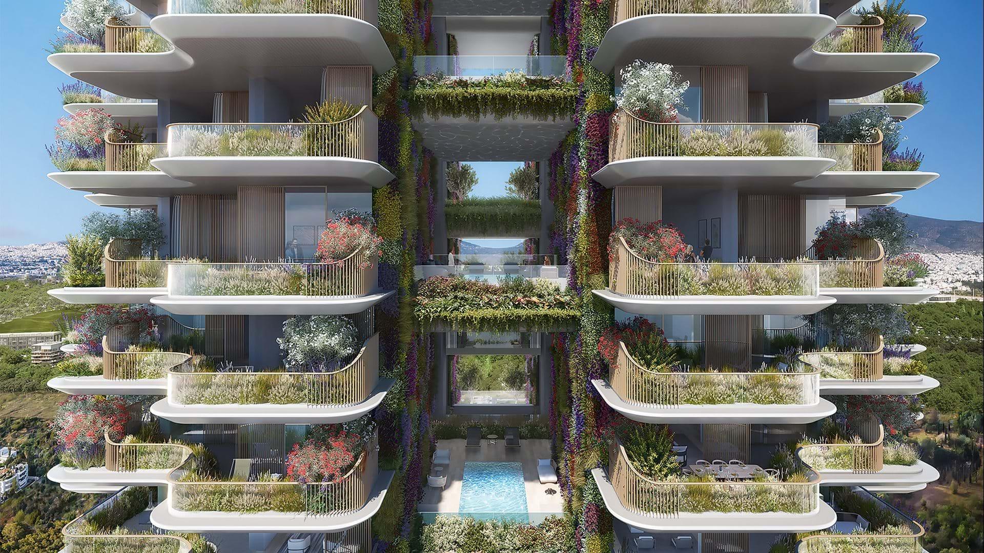 Marina Tower, il grattacielo verde della Grecia - credits: Foster + Partners