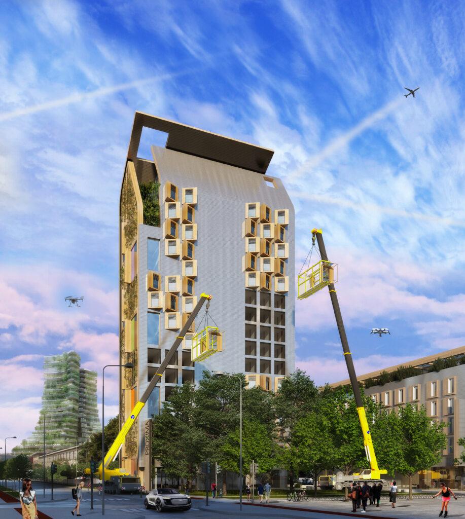 Proxima City - edificio modulare - credits: JDP architects