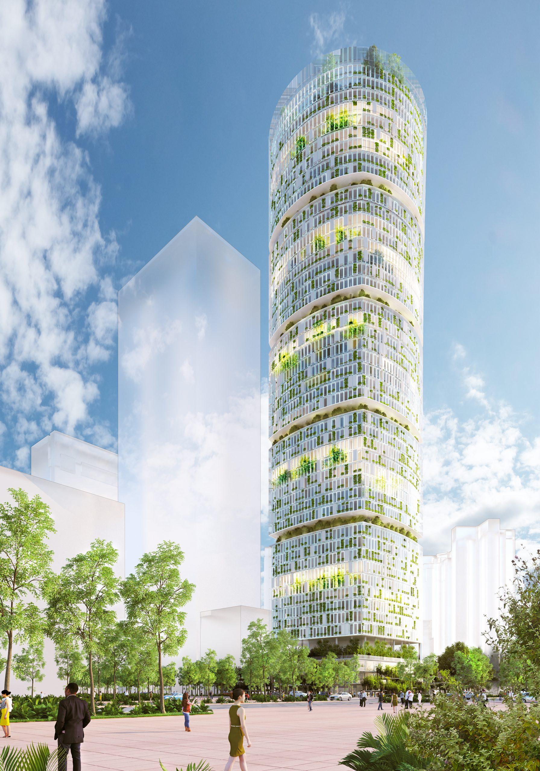 Il grattacielo fattoria idroponica Jian Mu Tower (CREDITS CRA-Carlo Ratti Associati)