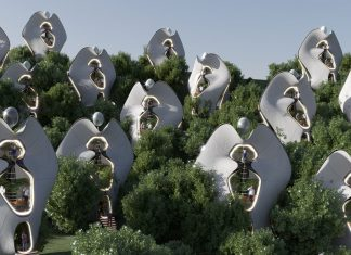 Exosteel i moduli in acciaio stampato in 3D - credits Mask Architects