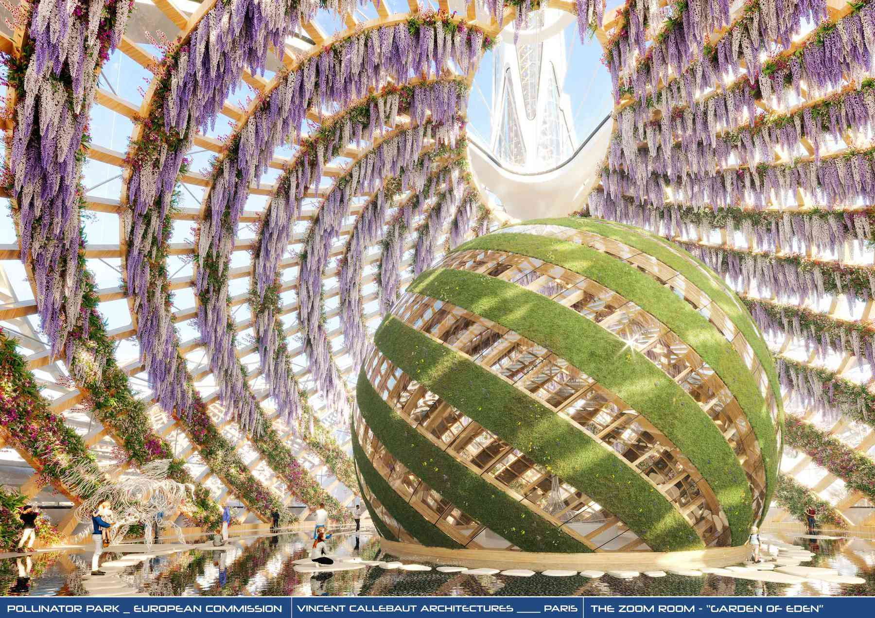 Pollinator Park - credit photo and rendere Vincent Callebaut Architects and European Commission