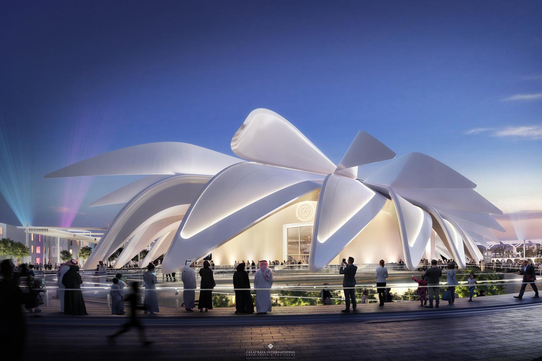 Il Padiglione degli Emirati Arabi di Santiago Calatrava - credit Courtesy_of_Calatrava