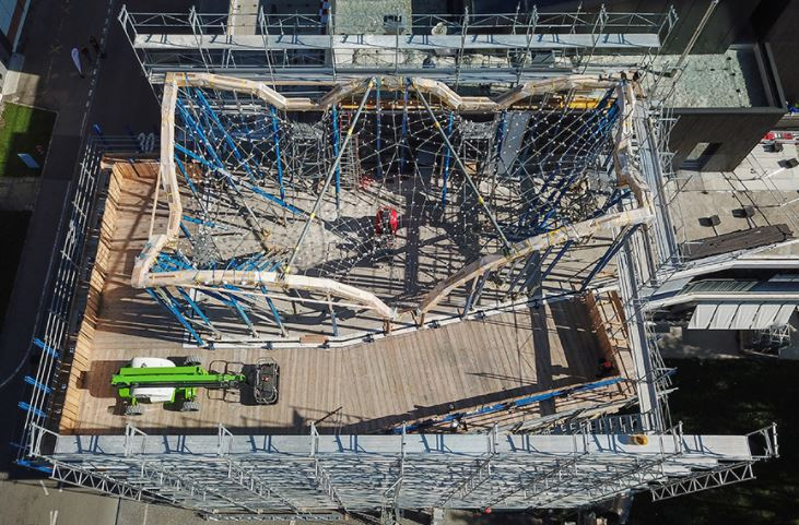 HiLO il tetto a doppia curvatura - Foto: ETH Zurigo, Block Research Group / Juney Lee